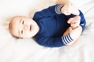 Blå och glad