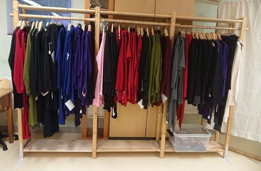 Upphängda kläder