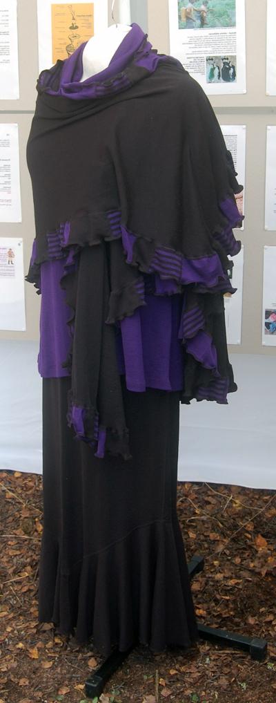 svart/lila Viola sjal