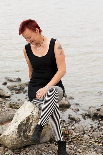 svart Jonna, svartvita leggings